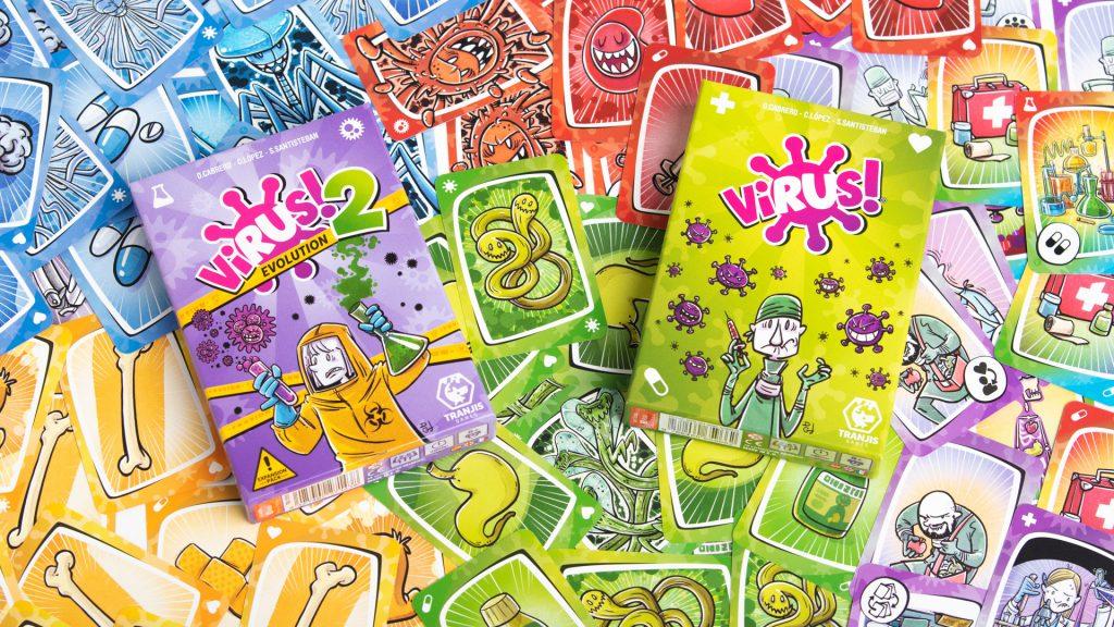Virus! y Virus! 2 juegos de mesa piscina