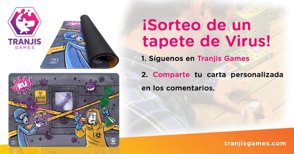 sorteo tapete Virus en Facebook