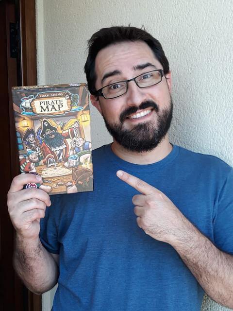 Pedro A. Alberto con El Mapa del Pirata