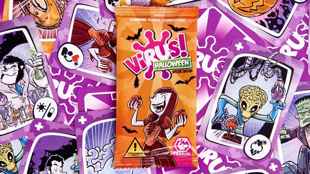 cartas y sobre de Virus! Halloween